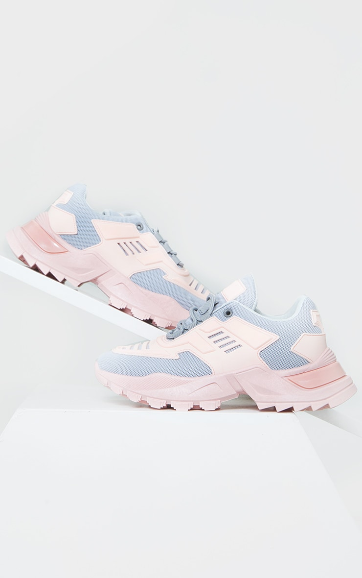 Pink Sports Panel Upper Cleated Chunky Trainers 4