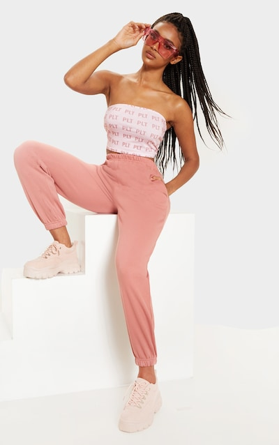 Dusty Pink Casual Jogger by Pretty Little Thing, available on prettylittlething.com for $18 Chantel Jeffries Pants SIMILAR PRODUCT