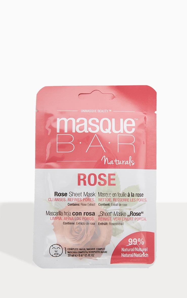MasqueBAR Naturals Rose Sheet Mask 2