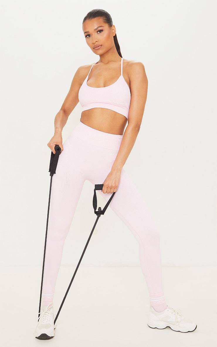 PRETTYLITTLETHING - Legging rose tendre sans coutures à taille haute 1