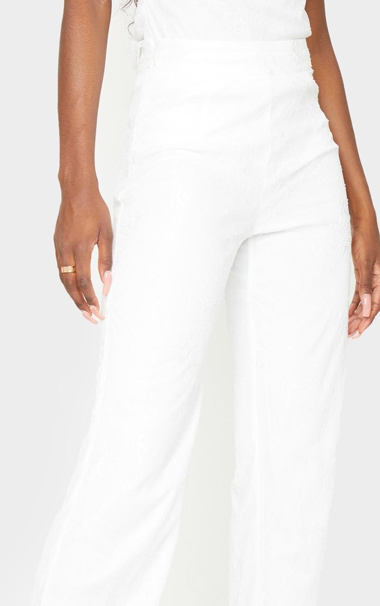 Tall White Lace Wide Leg Pants 4
