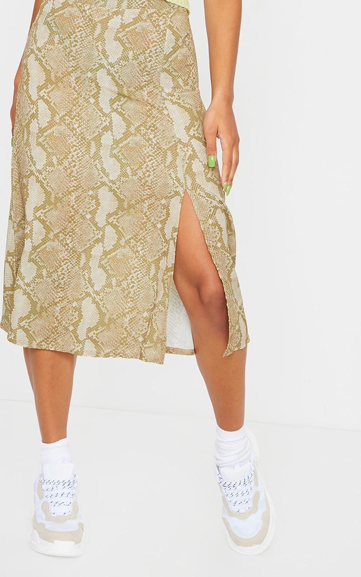 Stone Snake Floaty Midi Skirt 4