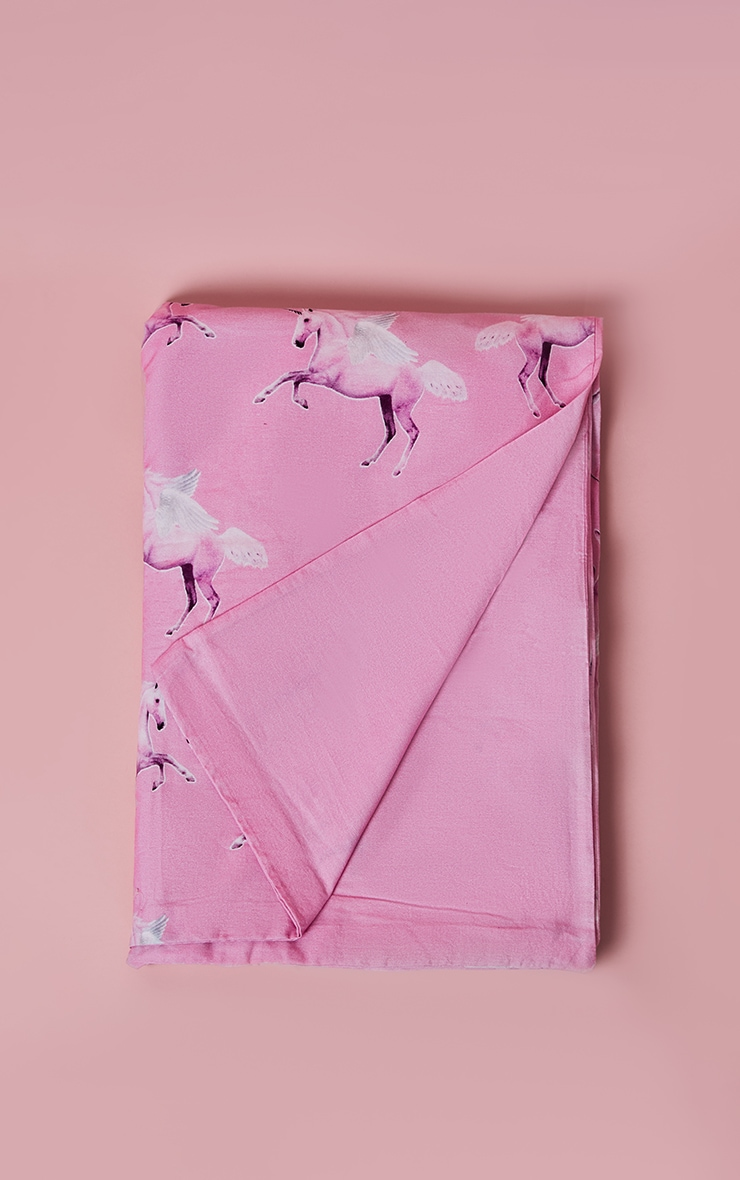 PRETTYLITTLETHING Pink Unicorn Single Duvet Set 3