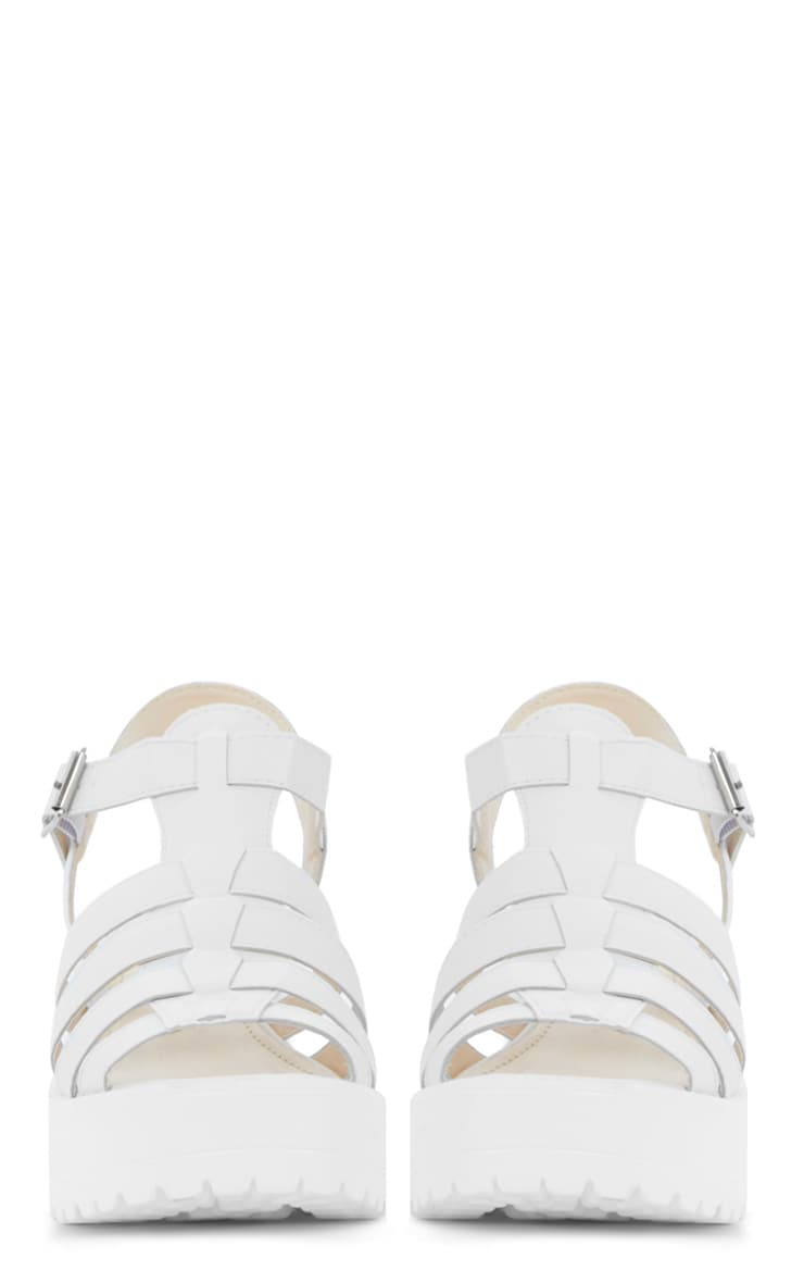 Nini White Cut Out Cleated Shoe 4