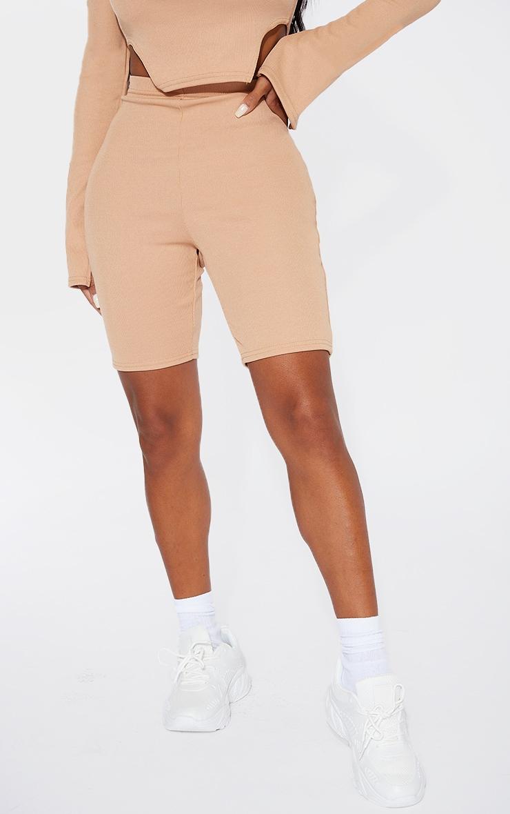 Shape Camel Rib Ruched Bum Bike Shorts 2