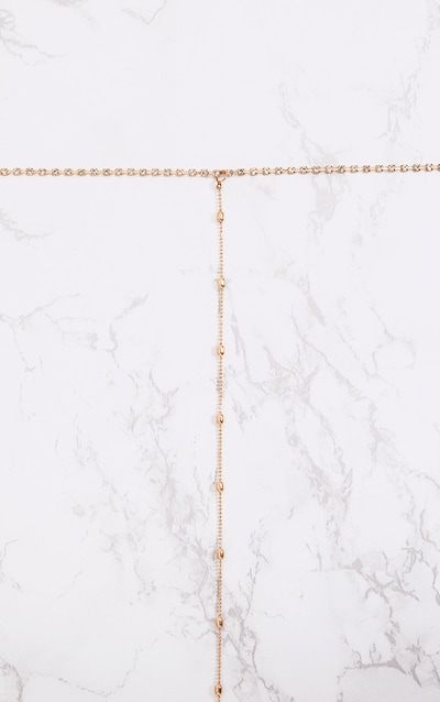 Gold Diamante Choker and Bead Drop Necklace