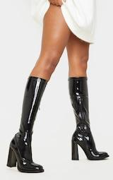 Bottes-chaussettes noires à talon bloc 2