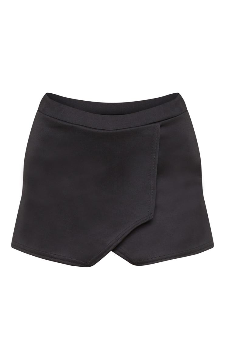 Emy jupe-short noire en néoprène 3