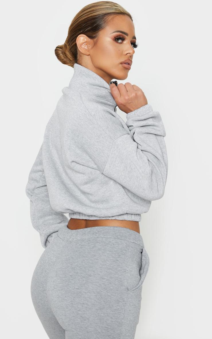 Petite Grey Half Zip Sweater 2