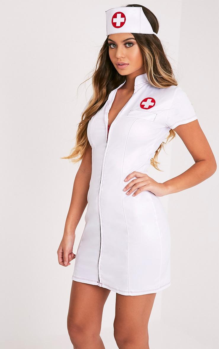 Sexy Nurse White Fancy Dress Costume 4