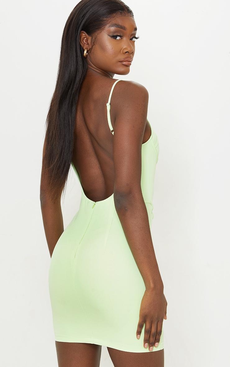 Tall - Robe moulante vert citron à dos nu détail corset 2