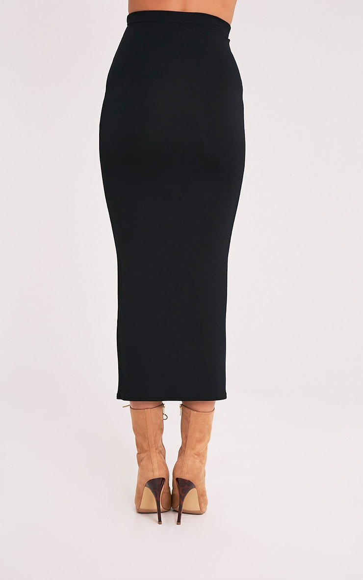 Basic Black Midaxi Skirt 5