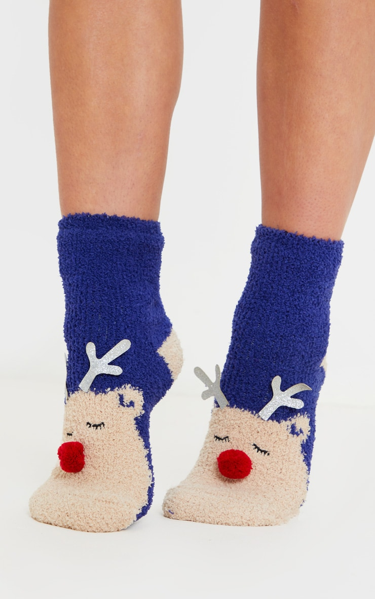 Reindeer Socks in Box 1