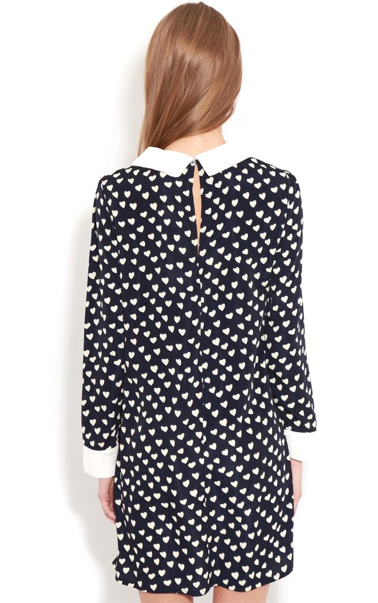 Karlie Blue Love Heart Collar Dress  2