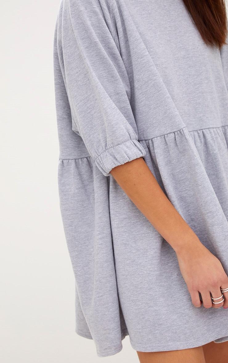 Grey Marl Smock Sweater Dress 5
