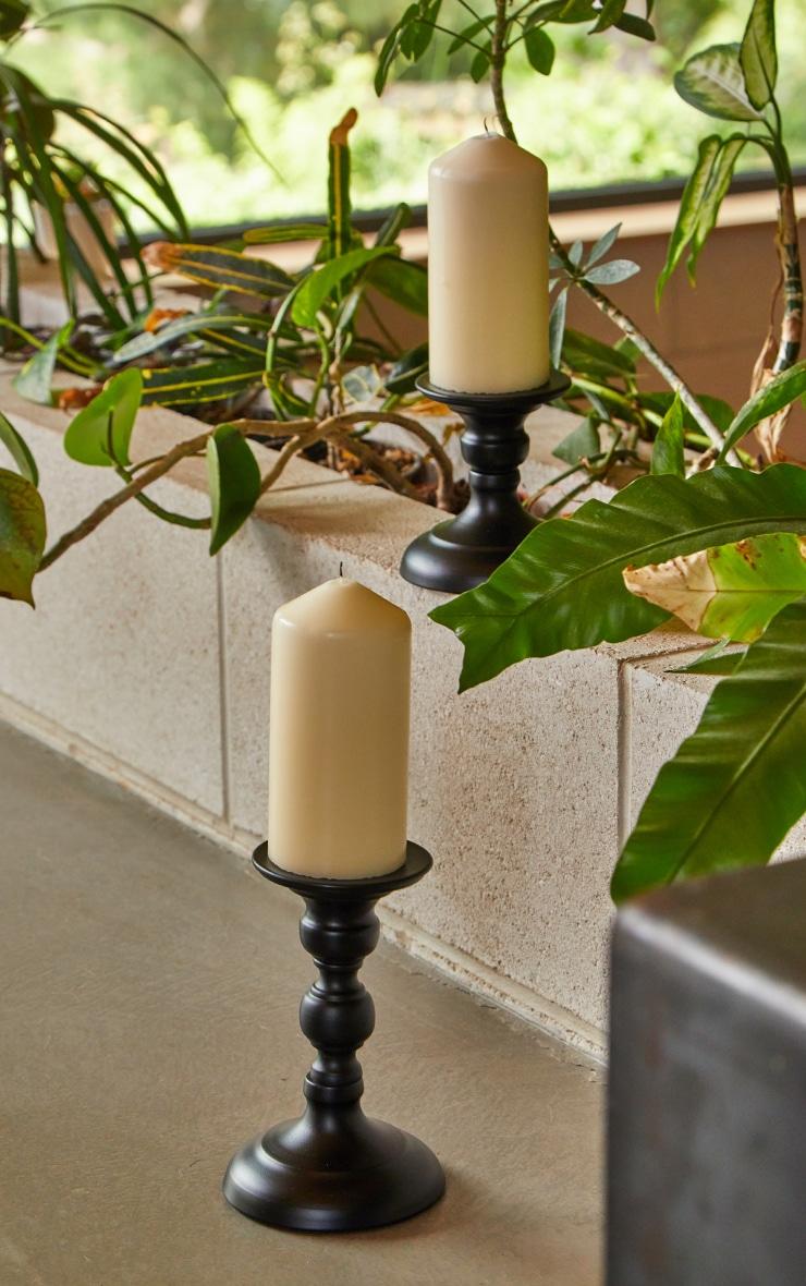 Black Pillar Design Candle Holder 1