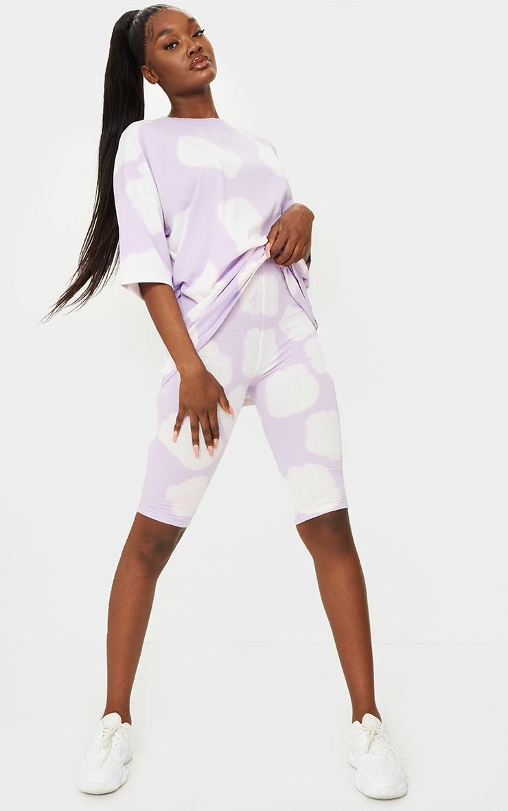 Tall Lilac Oversized Tie Dye Short 1