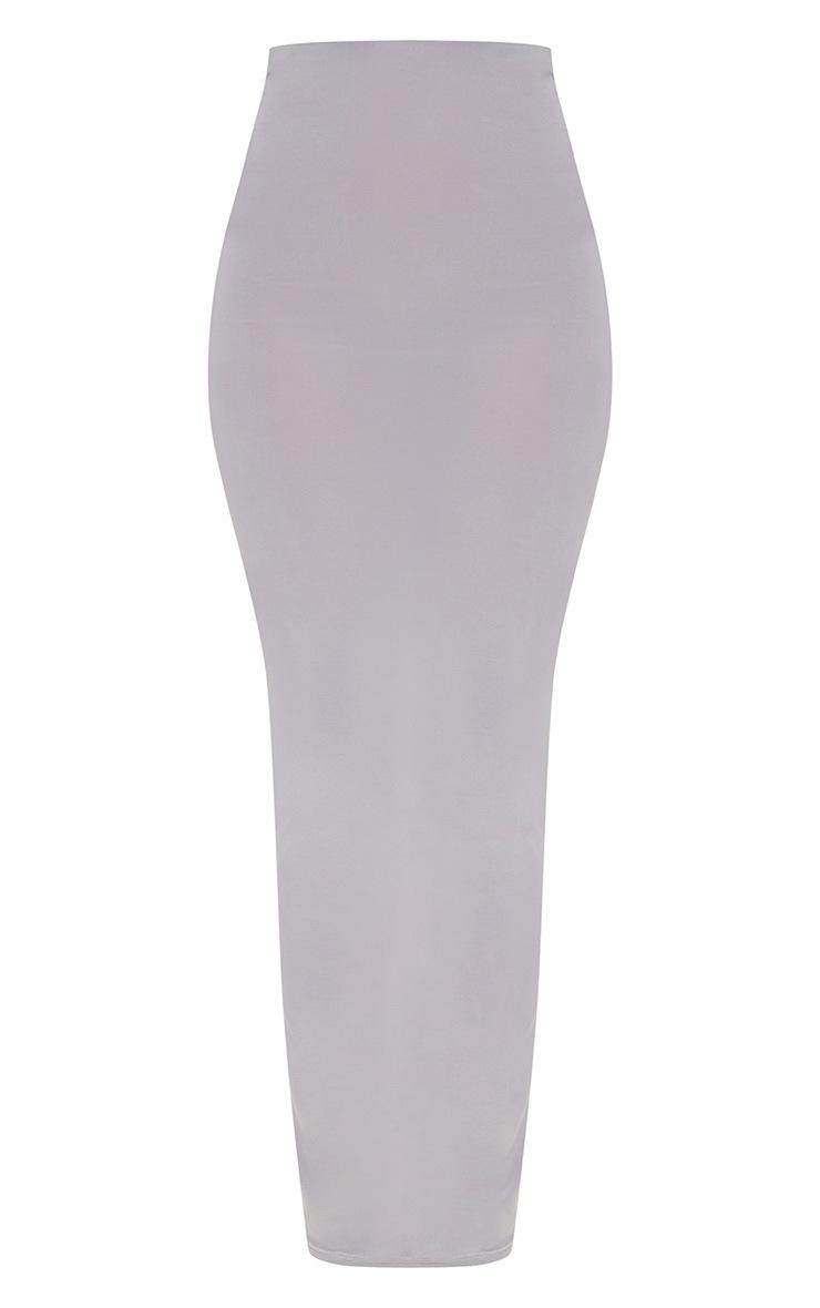 Petite Ice Grey Slinky Midaxi Skirt 2