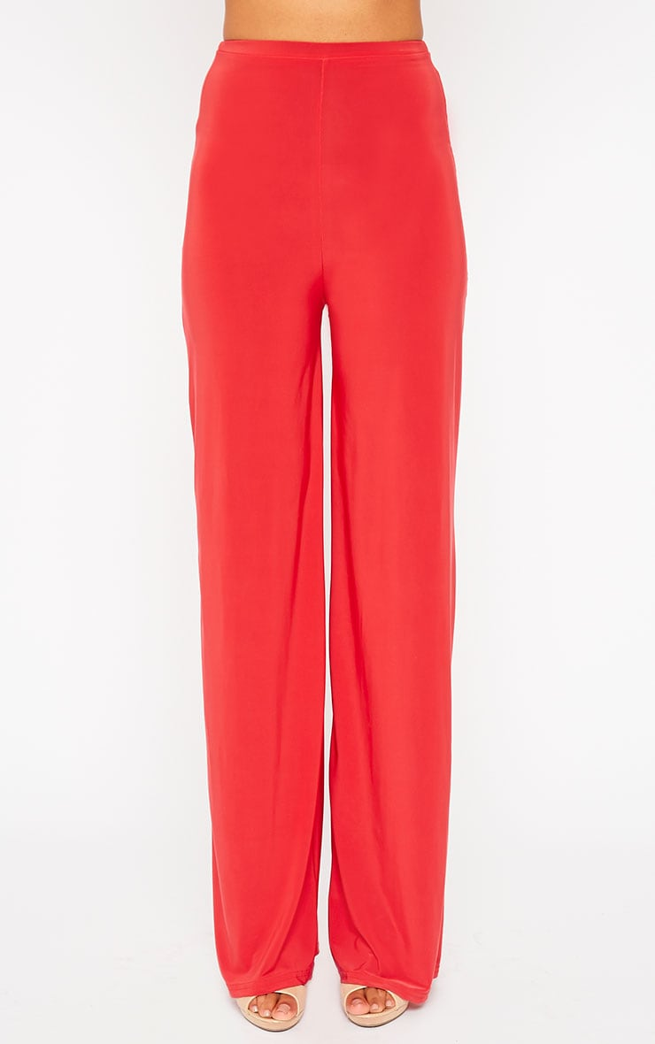 Zafia Red Palazzo Trousers 3