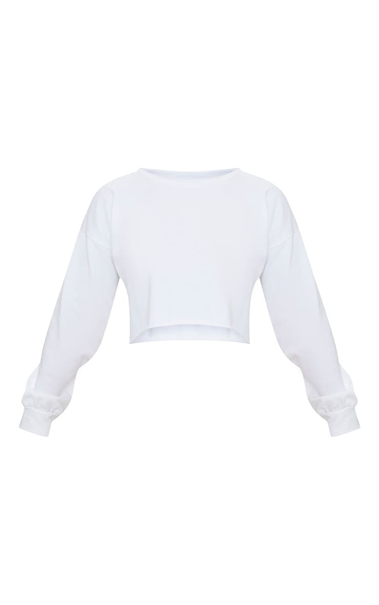 Petite White Cropped Sweater 4