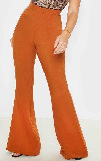 Chestnut Flare Tailored Trouser
