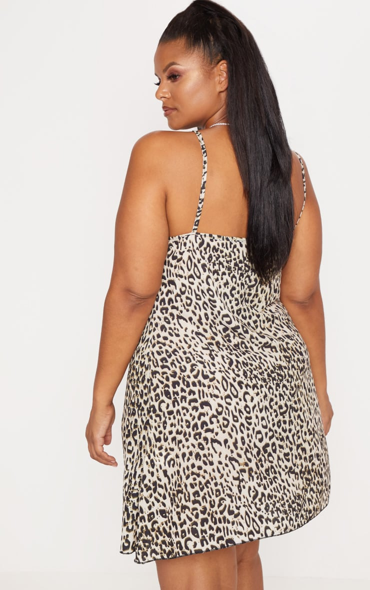 Plus Brown  Leopard Swing Dress 2