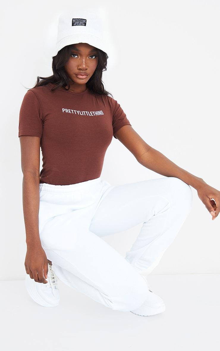 PRETTYLITTLETHING Tall Chocolate Brown Short Sleeve Bodysuit 3