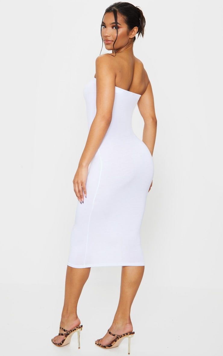 Basic White Bandeau Midaxi Dress 2