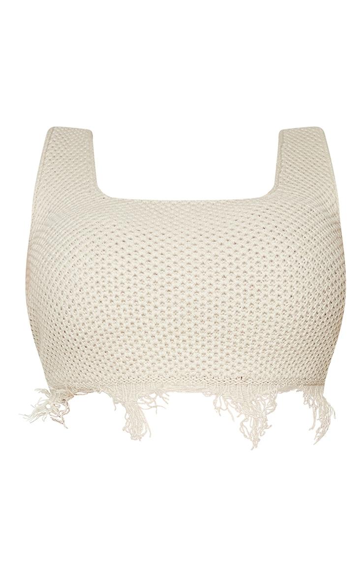 Plus Stone Raw Hem Knit Crop Top 5