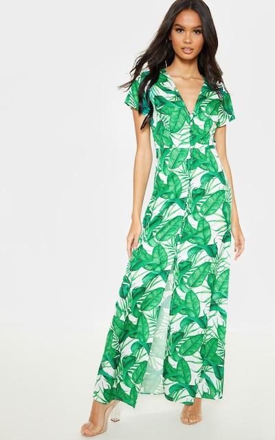 24c14258871 White Tropical Printed Button Through Maxi Dress