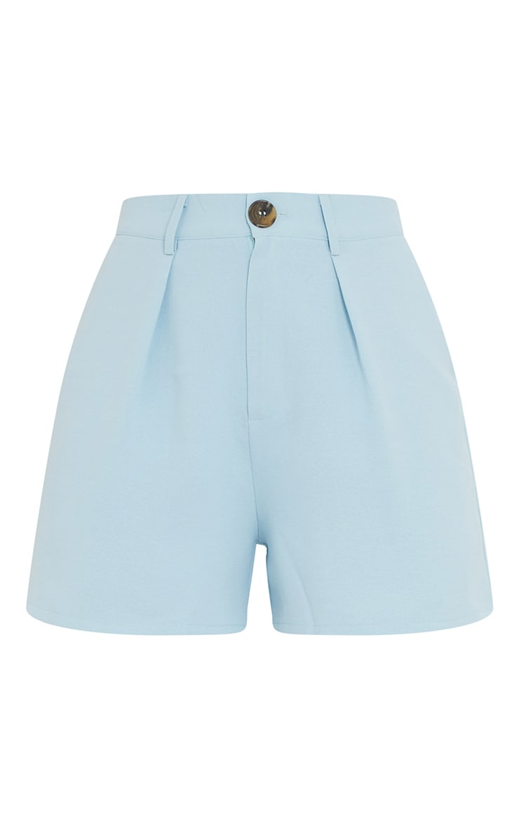 Blue Tailored City Shorts 6