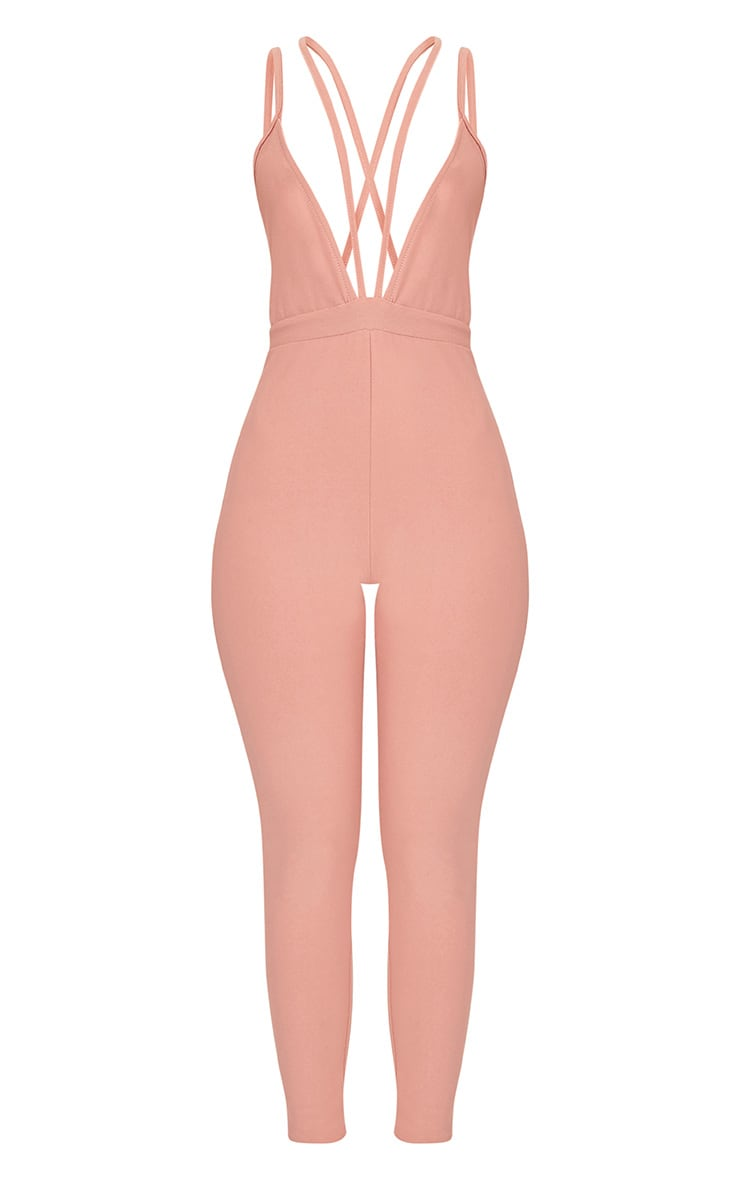 Fenna Dusty Coral Harness Crepe Jumpsuit  3