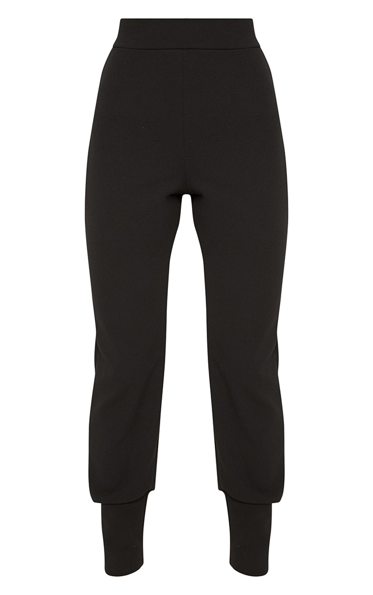 Black Deep Cuff Detail Trouser 3
