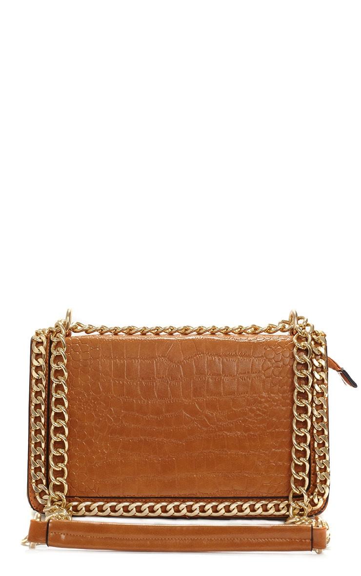 Ophelia Tan Chain Detail Bag 1