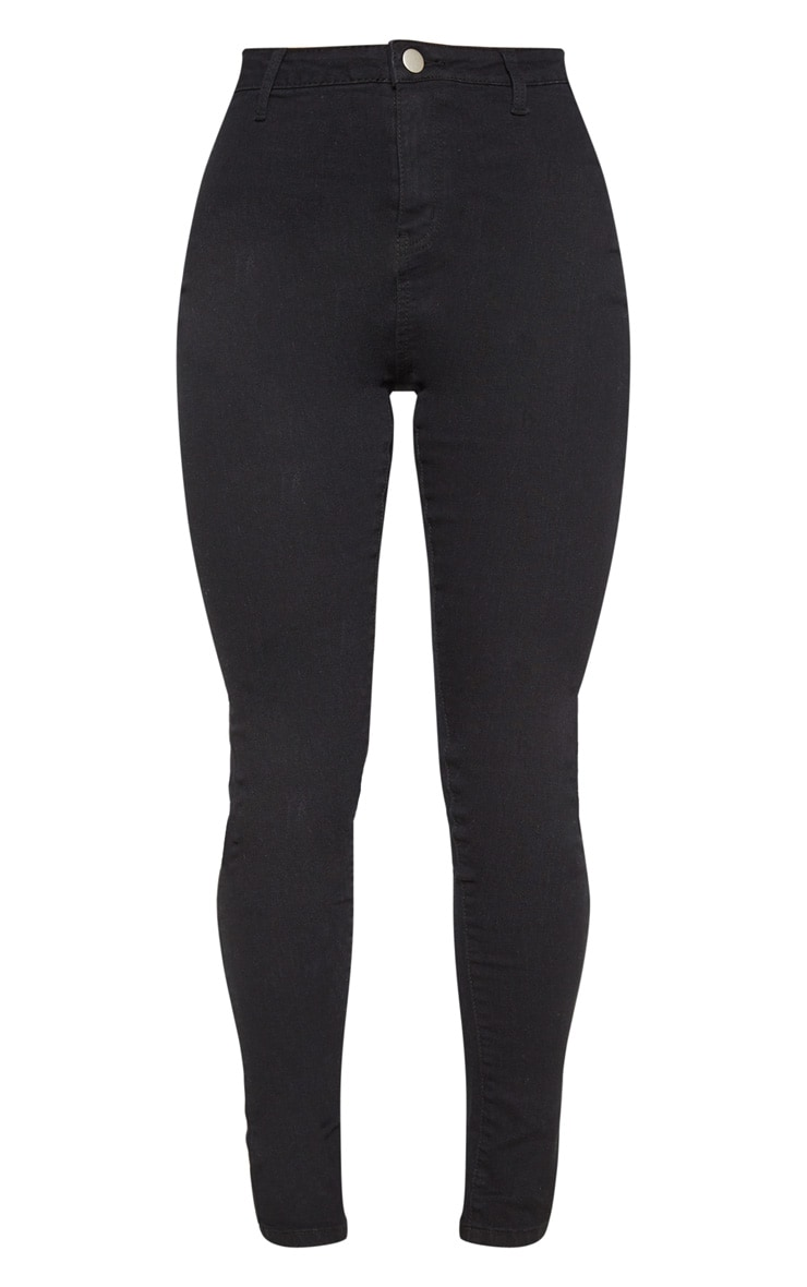 Black Basic High Waisted Disco Skinny 3