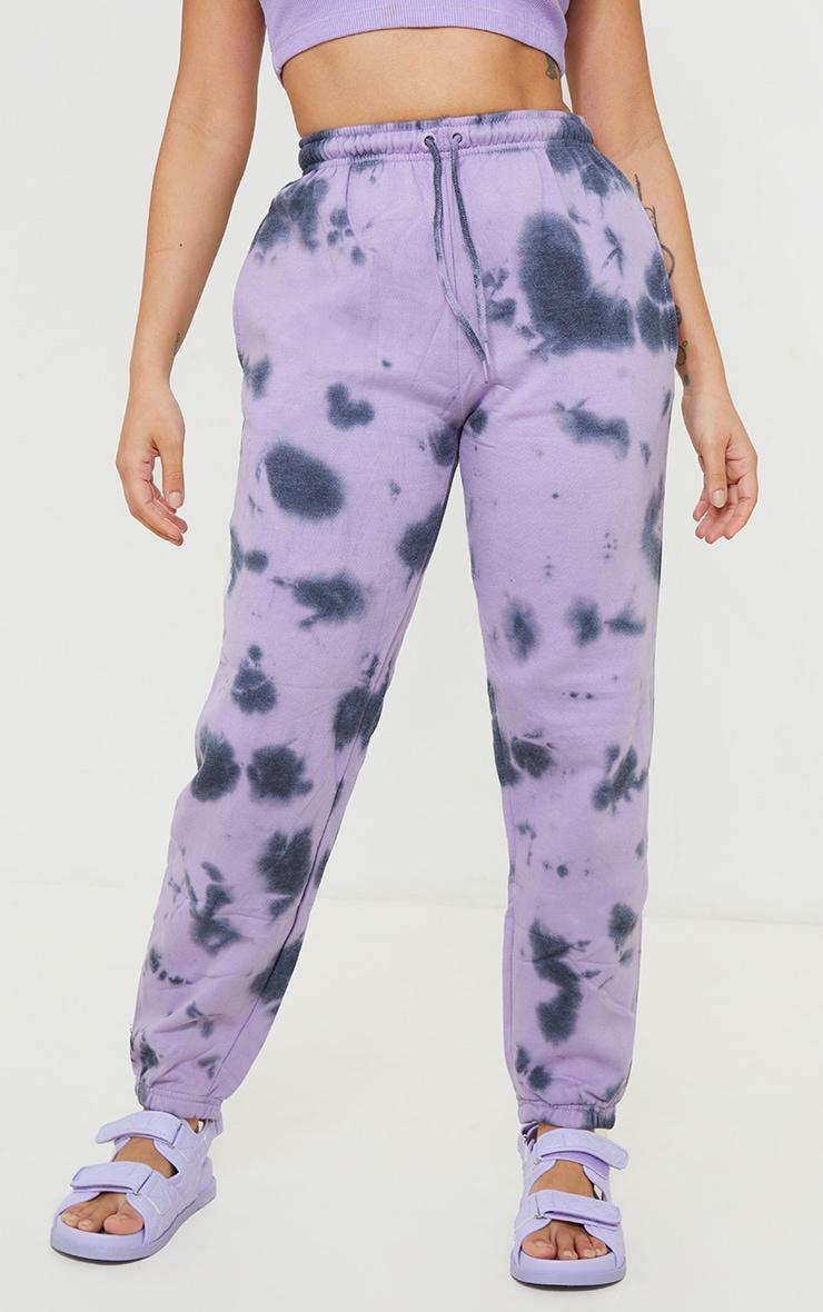 Petite Lilac Acid Wash Track Pants 2