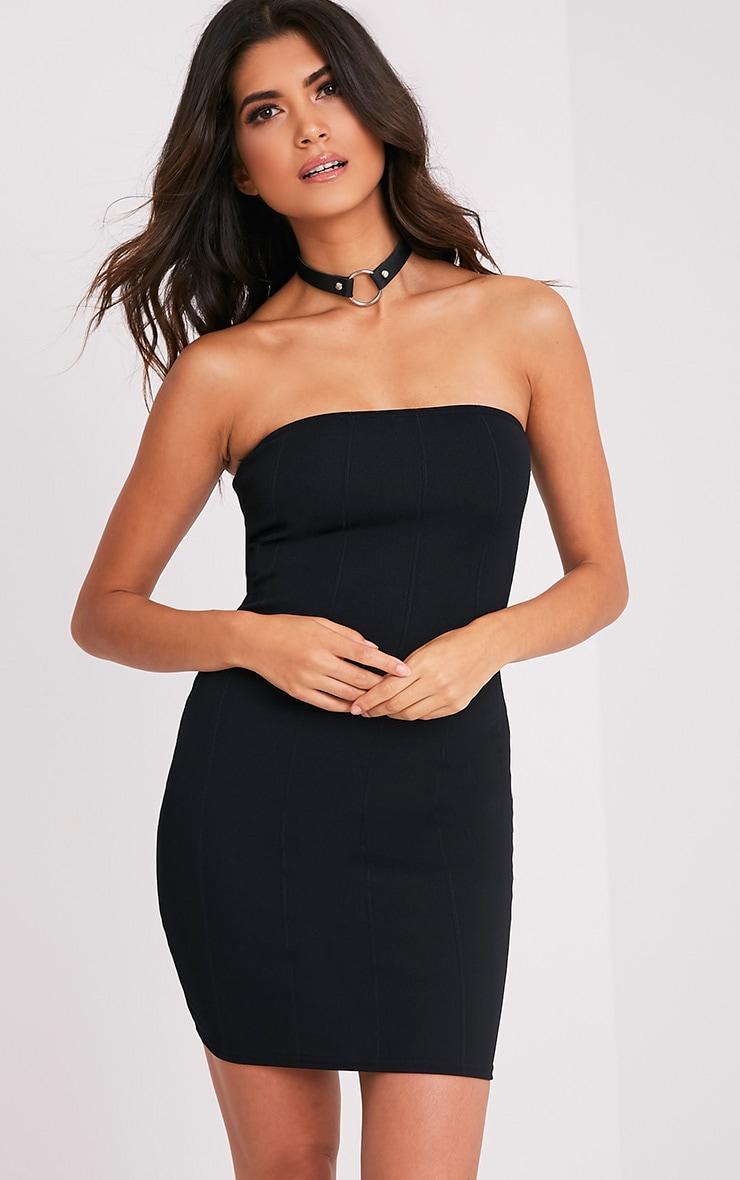 Kissia Black Bandage Bandeau Dress 1
