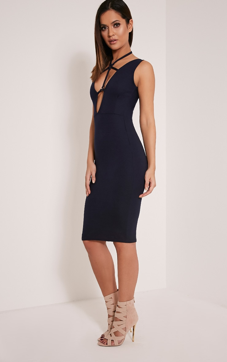 Raynie Navy Sleeveless Harness Midi Dress 5