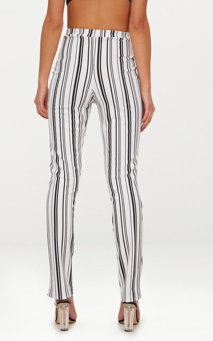 White Stripe Cigarette Trousers 3