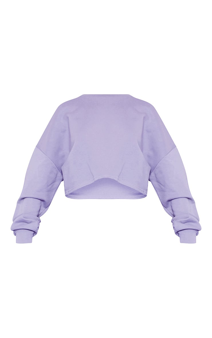 RECYCLED Violet Crop Sweater 3