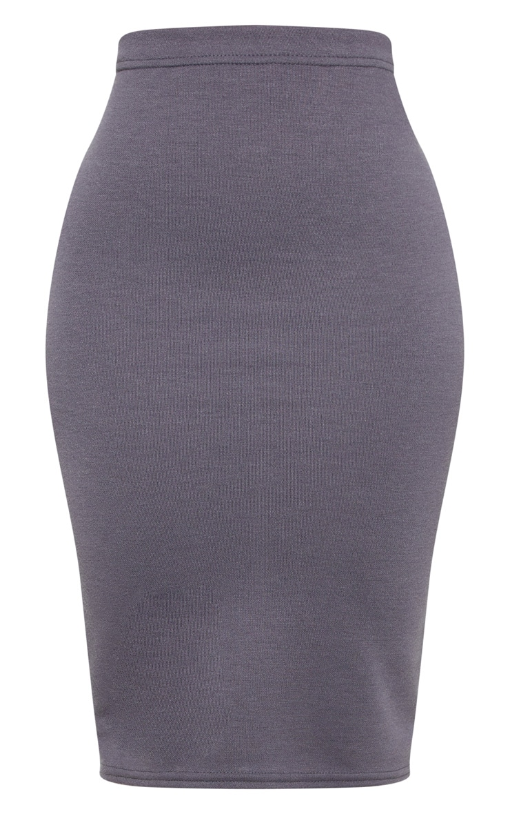 Shape Charcoal Sweat Midi Skirt  3