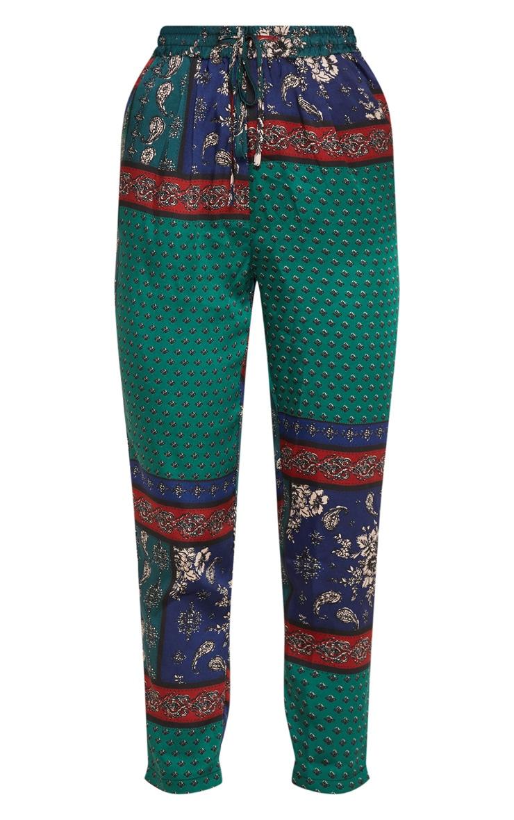 Multi Paisley Print Cigarette Trouser 3