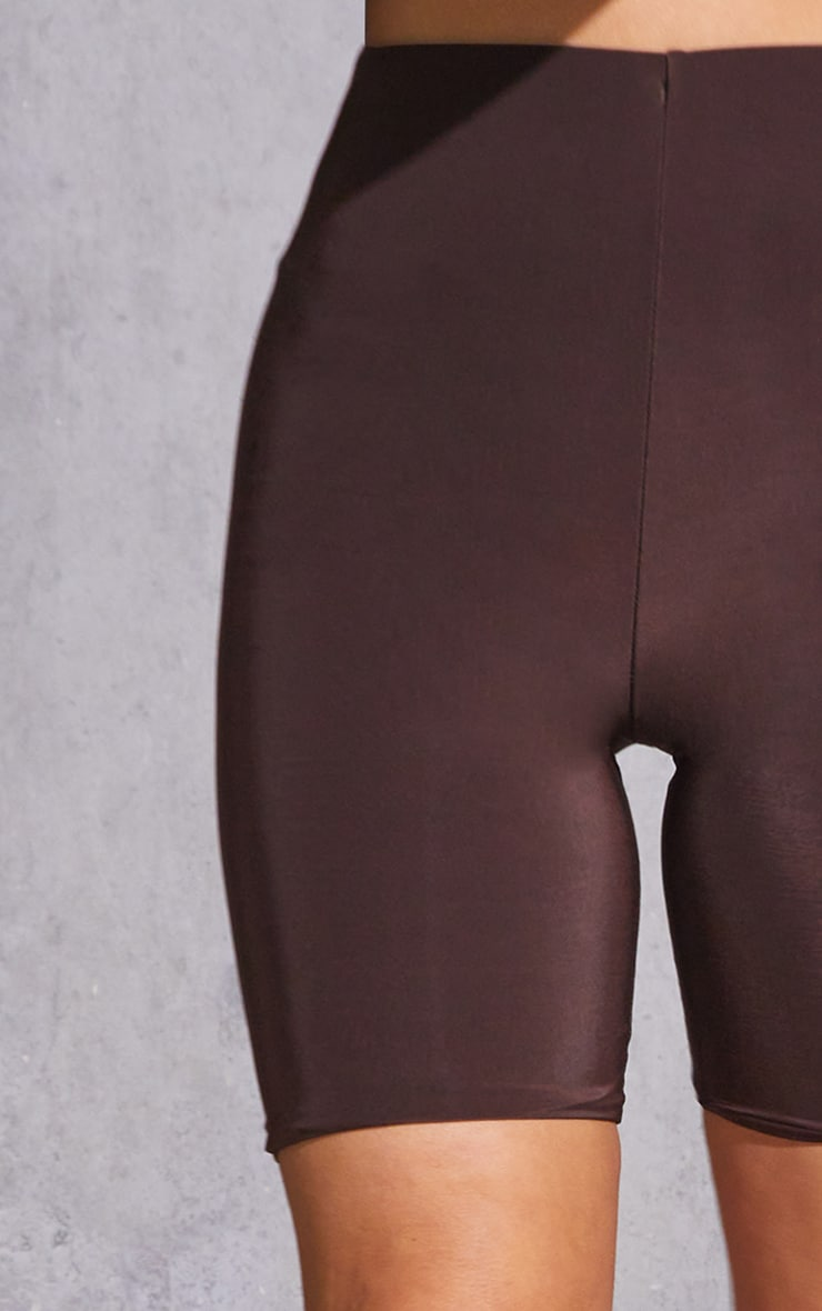 Dark Brown Slinky Bike Shorts 5