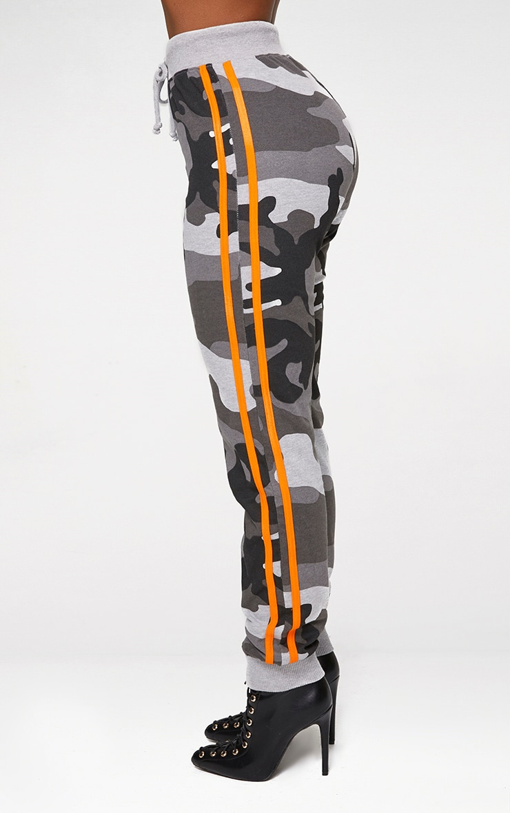 Shape Grey Camo Side Stripe Track Pants 4