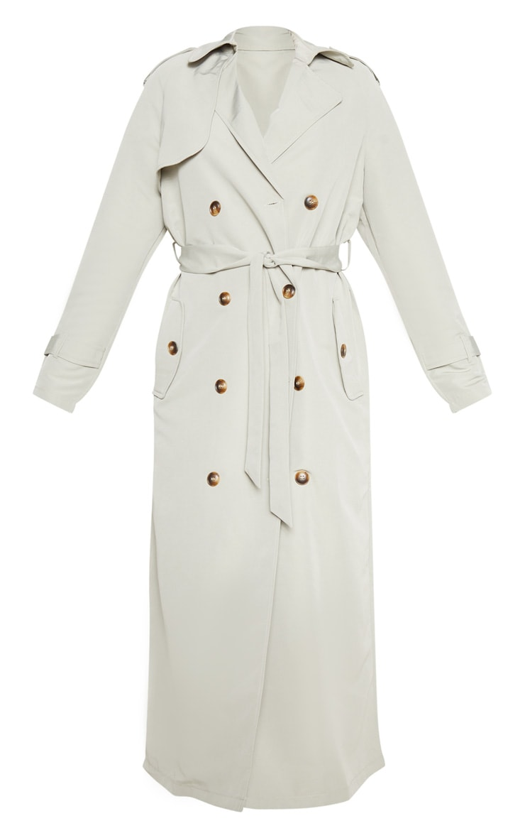 Pale Khaki Trench Coat 3