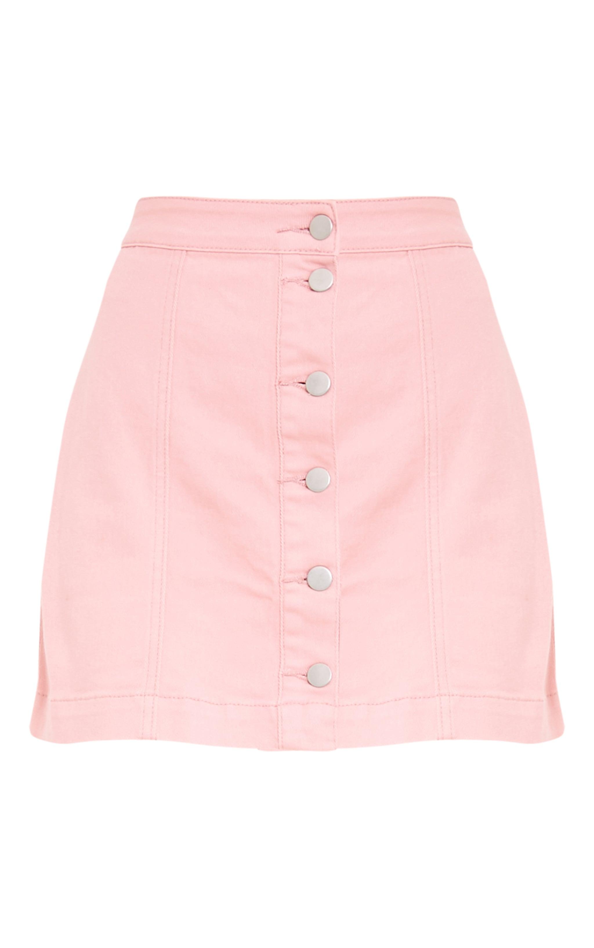 Pink Cammie Denim Mini Skirt 3
