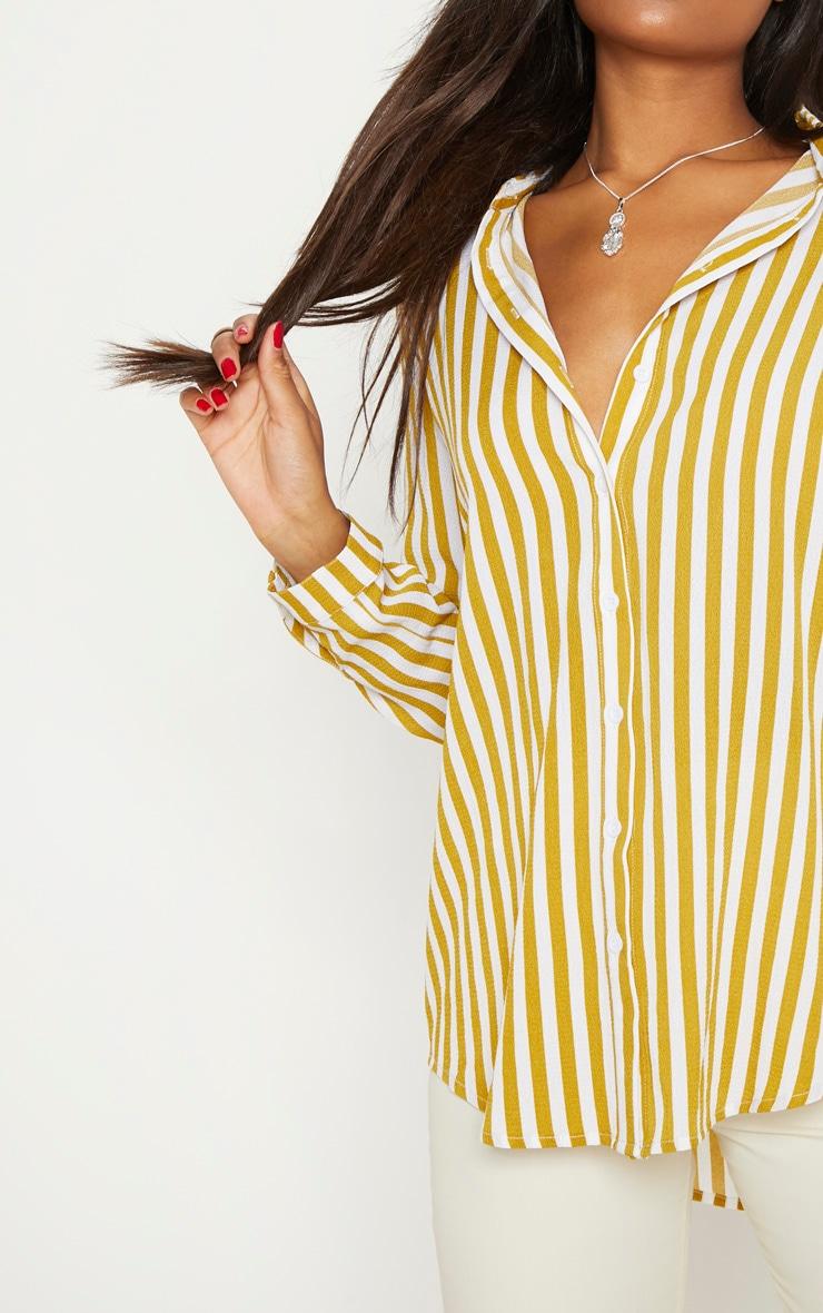 Mustard Stripe Oversized Shirt 5