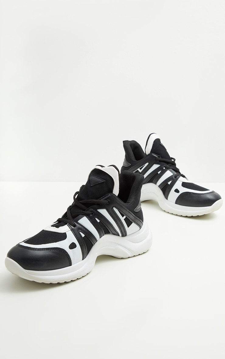 Black Arched Sole Chunky Sneakers 3