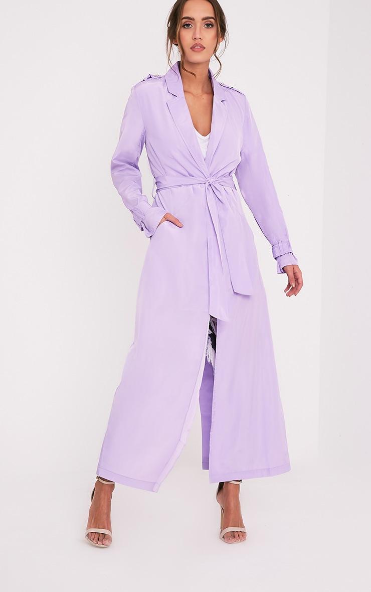 Hebe manteau ample imper léger lilas 5