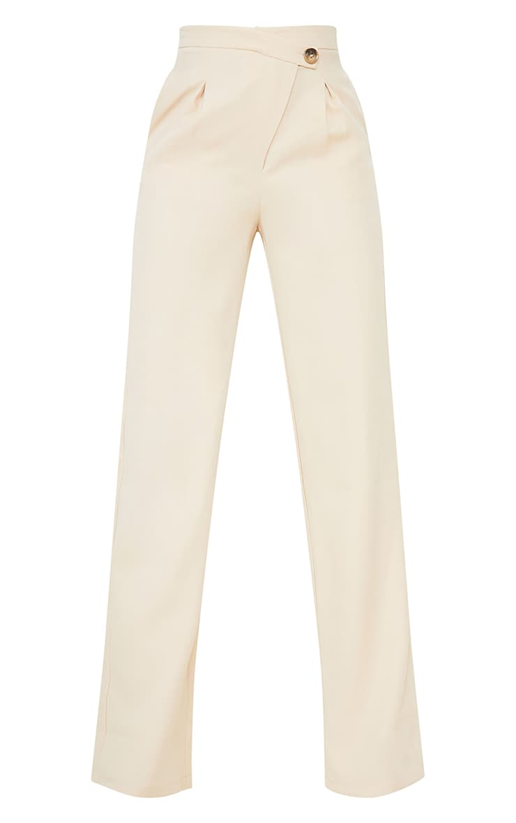 Tall Ecru Asymmetric Dad Pants 5